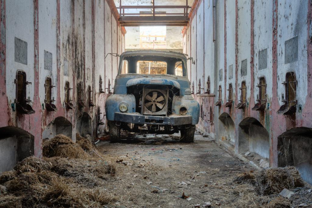 Fine art photographie Berlier camion chai Nicolas Pluquet