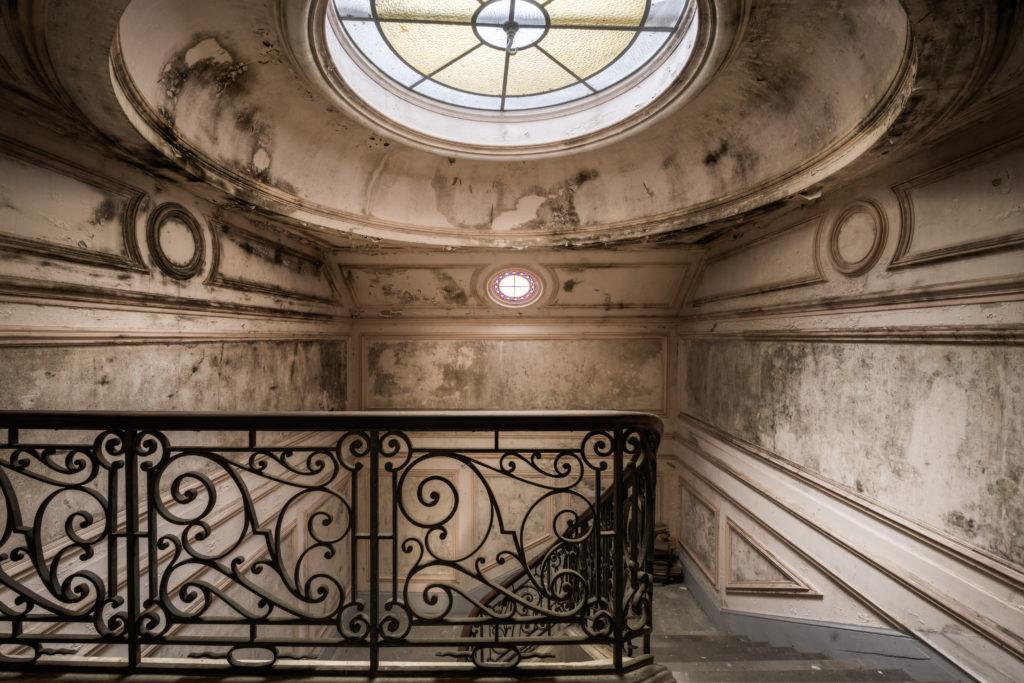 Fine art photographie château escalier dôme Nicolas Pluquet