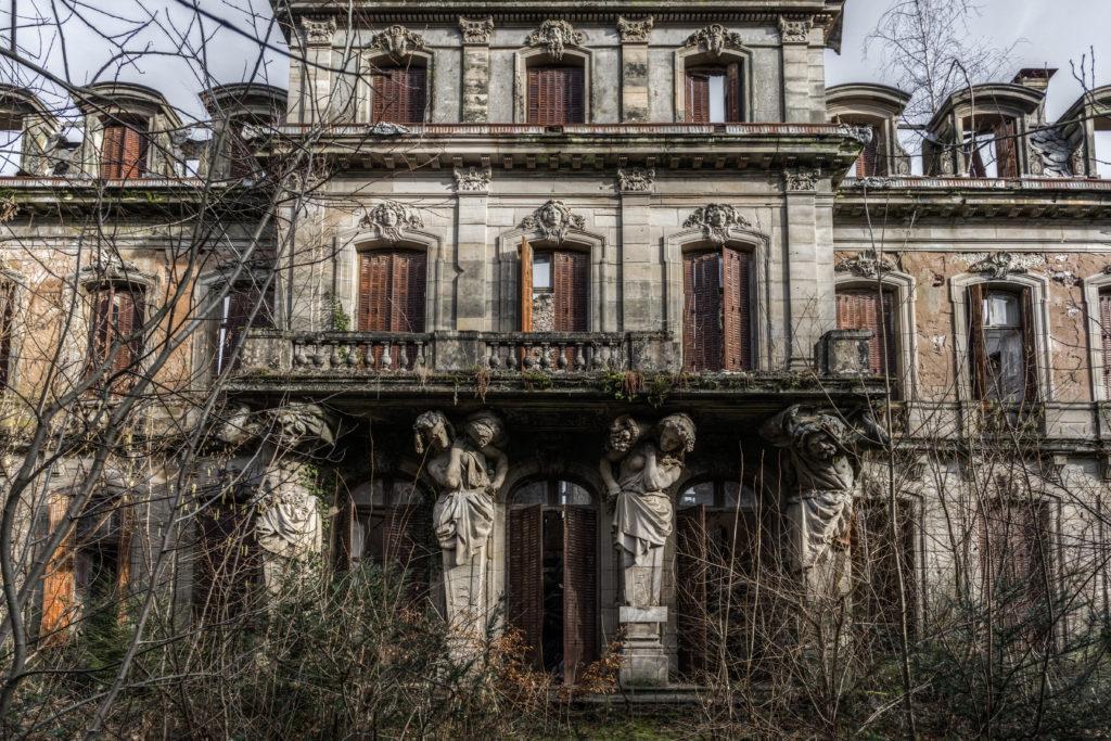 Fine art photographie château caryatides Nicolas Pluquet