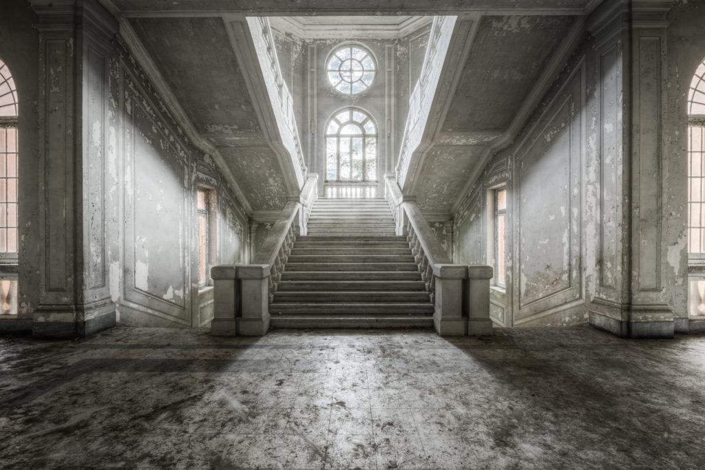 Fine art photographie escalier asile Nicolas Pluquet